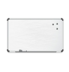 whiteboard with marker and magnets vector image vector image