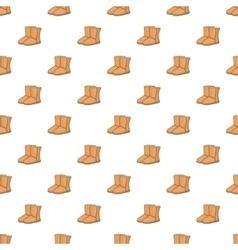 Winter ugg boots pattern cartoon style vector
