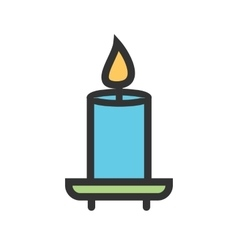 Candle on shelf vector