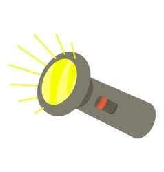 Flashlight icon isometric 3d style vector