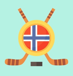 Hockey in norway vector