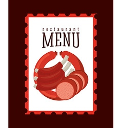 Butchery menu vector