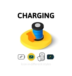 Charging icon in different style vector