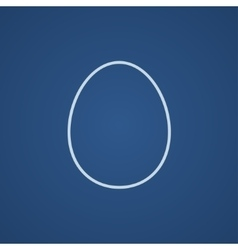 Egg line icon vector