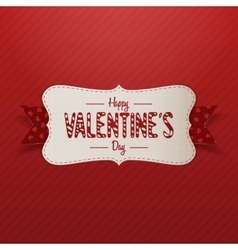 Happy valentines day greeting paper card template vector