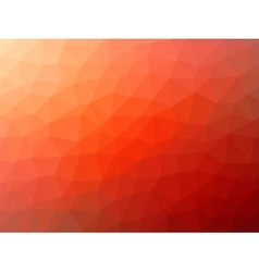 Red-orange low poly background vector image