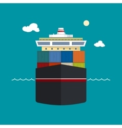 Cargo container shipfront view vector