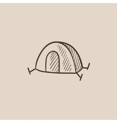 Tent sketch icon vector