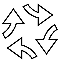 Circular exchange arrows thin line icon vector