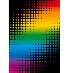 rainbow dots vector image