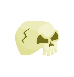 Human skull icon in cartoon style vector image