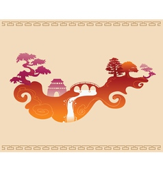 Abstract Decorative Chinese Background vector image vector image