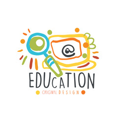 abstract education day label design concept vector image