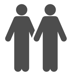 Adult friends flat icon vector