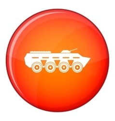Army battle tank icon flat style vector