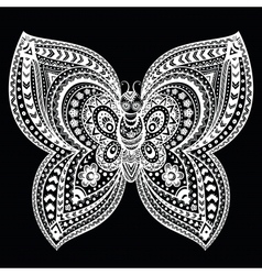 Beautiful butterflies seamless vector image vector image