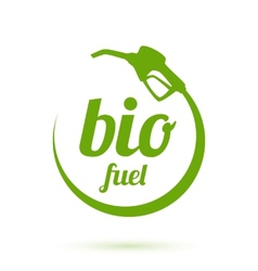 Bio fuel icon vector