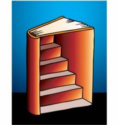 Book stairway vector