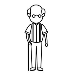 cartoon man male parent family adult member vector image