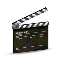 clapper board template clapboard movie vector image vector image