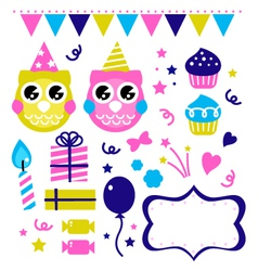Cute party elements vector image vector image
