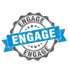 Engage stamp sign seal vector