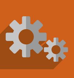 Gears wheels icon vector