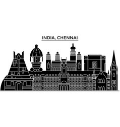 india chennai architecture urban skyline with vector image