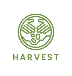 Logo outline horticulture crop plant soil style vector image