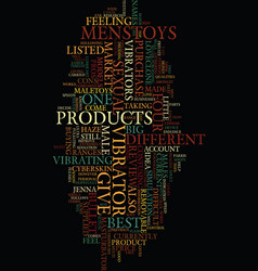 Mens sex toys product review text background word vector