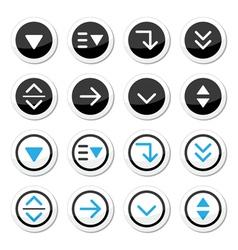 Menu drop down round icons set vector image vector image