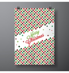 Merry Christmas Holiday with typographic design vector image vector image