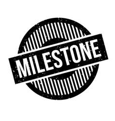 Milestone rubber stamp vector