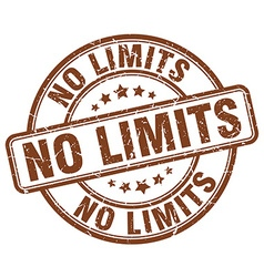 no limits brown grunge round vintage rubber stamp vector image vector image