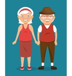 Old people character avatar icon vector