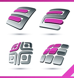 Pink company signs vector image