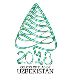 ribbon in the shape of a christmas tree with the vector image