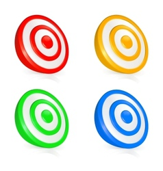 Target buttons vector image vector image