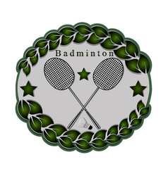 the theme badminton vector image