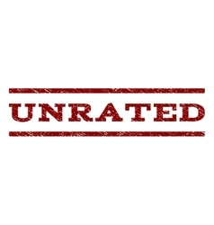 Unrated watermark stamp vector