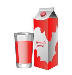 white carton boxes with tomato juice vector image vector image