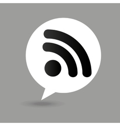 Wifi map pin icon vector