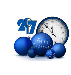Xmas and new year 2017 concept blue christmas vector