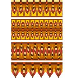 Ethnic Pattern Stripe Set vector image