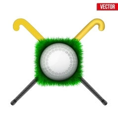 Icon hockey ball and sticks vector