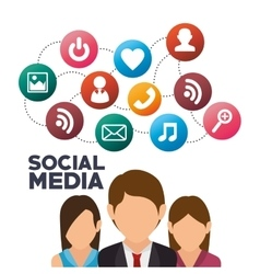 Group persons social media isolated icon design vector