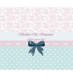 Shabby chic lace invitation vector