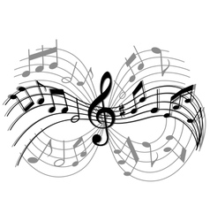 Abstract musical composition vector image