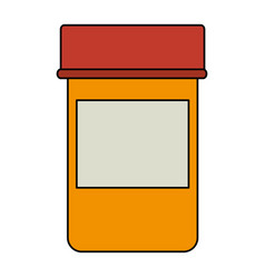 Medicine bottle isolated icon vector