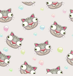 Funny childish seamless pattern with crazy vector